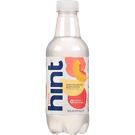 hint Water Infused With Peach - 16 Fl. Oz.