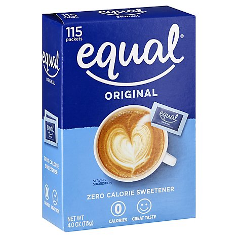 Equal Sweetener 0 Calorie Packets - 115 Count