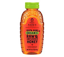 Nature Nates Organic Honey Raw & Unfiltered - 16 Oz