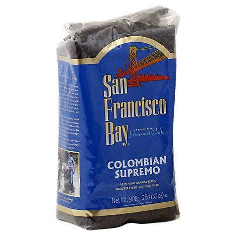 San Francisco Bay Coffee Gourmet Whole Bean Colombian Supremo - 32 Oz
