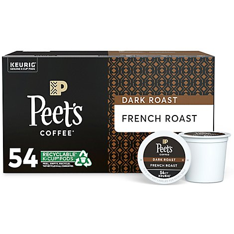 Peets Coffee Coffee K-Cup Packs Deep Roast French Roast - 54 Count