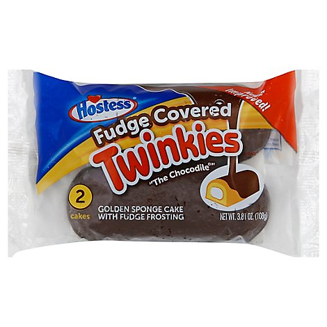 Hostess Fudge Covered Twinkies Single Serve 3ct - 3.81 Oz