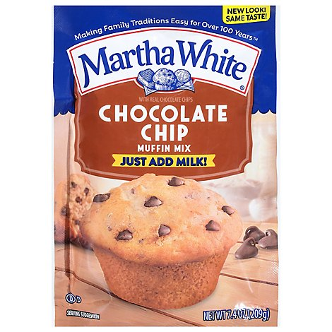 Martha White Muffin Mix Chocolate Chip - 7.4 Oz