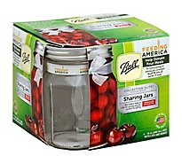 Ball Collection Elite Design Series Sharing Jars Regular Mouth with Lids and Bands - 4 Count