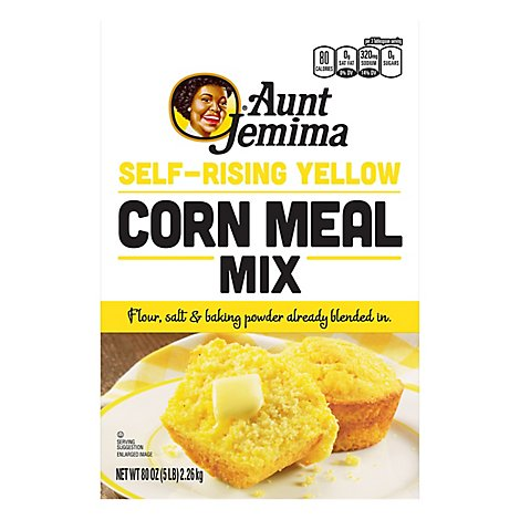 Aunt Jemima Corn Meal Mix Yellow Self-Rising - 5 lb