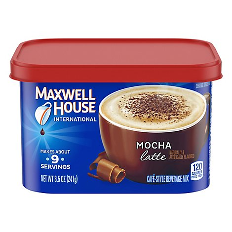 Maxwell House International Beverage Mix Cafe-Style Mocha Latte - 8.5 Oz