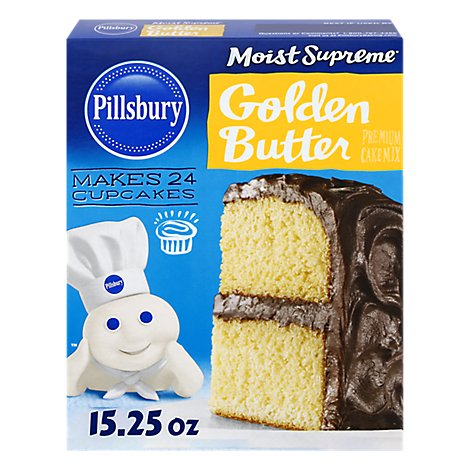 Pillsbury Moist Supreme Cake Mix Premium Golden Butter - 15.25 Oz