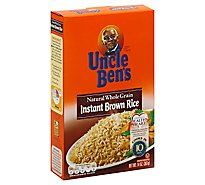 Uncle Bens Rice Brown Natural Whole Grain Intant - 14 Oz