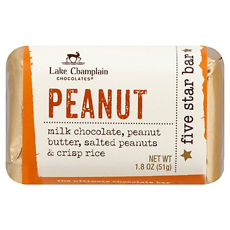 Lake Champlain Chocolates Five Star Bar Peanut - 1.8 Oz