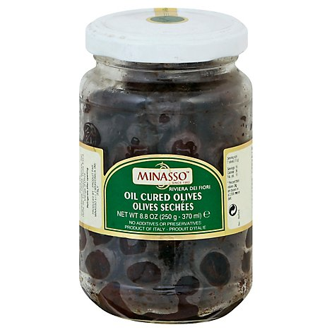 Minasso Olives Oil Cured Jar - 7 Oz