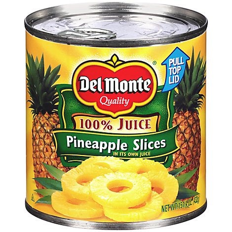 Del Monte Juice Pineapple Slices Natural - 15.25 Oz