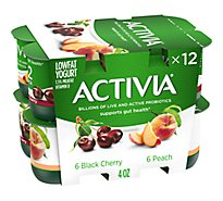 Activia Regular Peach Cherry - 12-4 Oz