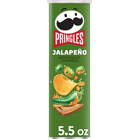 Pringles Potato Crisps Chips Jalapeno - 5.5 Oz