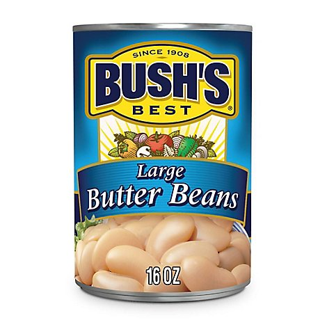 Bushs Best Beans Large Butter - 16 Oz