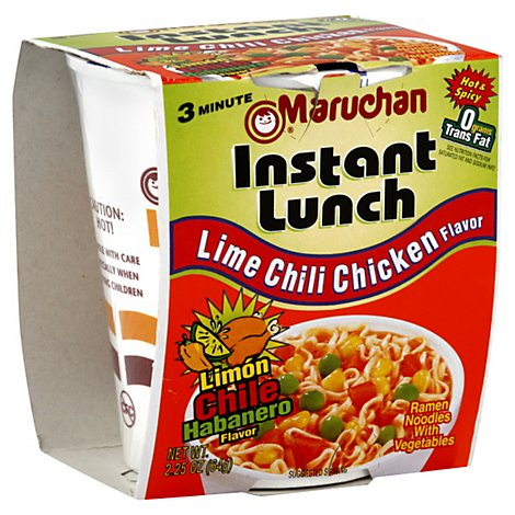 Maruchan Instant Lunch Ramen Noodles With Vegetables  Lime Chili Chicken - 2.25 Oz