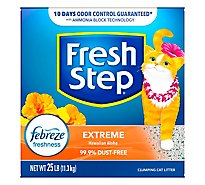 Fresh Step Cat Litter Clumping Extreme With Febreze Hawaiian Aloha Scent Box - 25 Lb