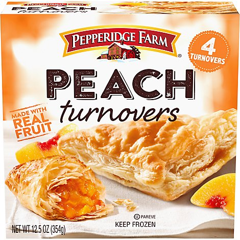Pepperidge Farm Puff Pastry Turnovers Peach 4 Count - 12.5 Oz