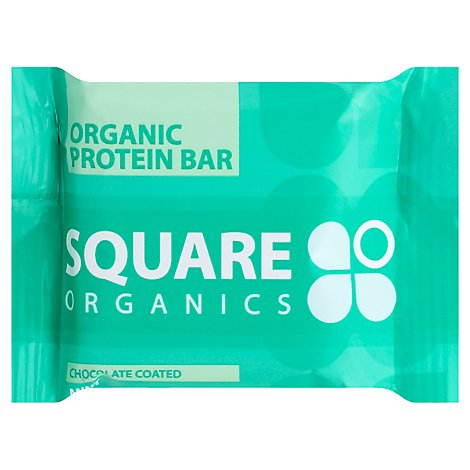 Square Organics Bar Protein Chocolate Coated Mint - 48 Gram