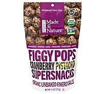Made In Nature Organic Cranberry Pistachio Figgy Pops - 11 Oz.