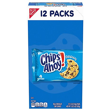 Chips Ahoy! Cookies Chocolate Chip Original 12 Count - 1.55 Oz