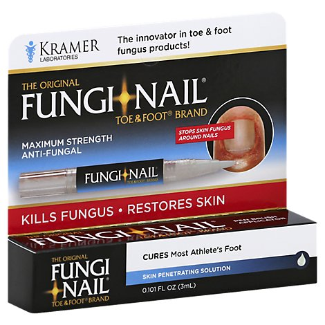 Fungi Nail Anti-Fungal Toe & Foot Maximum Strength Penetrating Solution - 0.101 Fl. Oz.