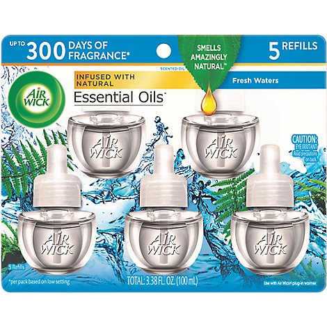 Air Wick Scented Oil Refill Fresh Waters Extreme Value - 5-0.67 Fl. Oz.