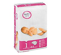 Signature Care Diapers Wetness Indicator Size 1 8 To 14 Lb - 44 Count