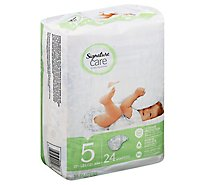 Signature Care Diapers Leakage Protection Size 5 27 Lb Plus - 24 Count