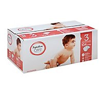 Signature Care Diapers Size 3 16 To 28 Lb - 104 Count