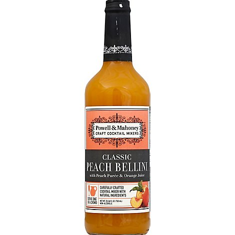 Powell & Mahoney Peach Bellini Mix - 750 Ml