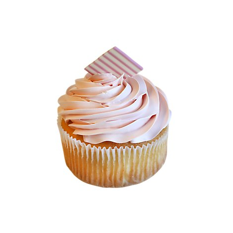 Bakery Cupcake Strawberry Whipped Icing Jumbo - Each