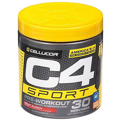 Cellucor C4 Sport Energy & Performance Powder Concentrated Fruit Punch - 10.1 Oz