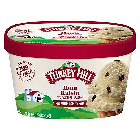 Turkey Hill Ice Cream Rum Raisin - 48 Fl. Oz.