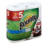 Bounty Paper Towels Select-A-Size Huge Rolls Spring Prints 2-Ply - 2 Count