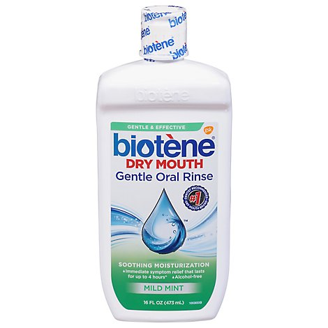 Biotene Dry Mouth Oral Rinse Gentle Mild Mint - 16 Fl. Oz.