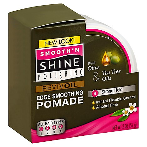 Smooth N Shine Edge Pomade Reviv Oil W/ Olv Oil & Tea Tree Oils - 2 Oz