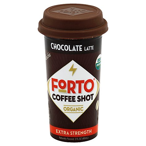 FORTO Coffee Shot Organic Energy To Go Mocha With Milk - 2 Fl. Oz.