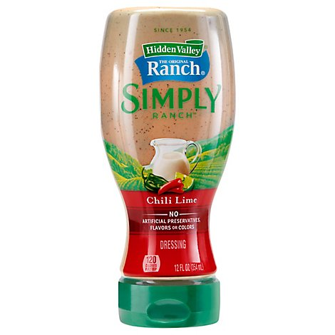 Hidden Valley Simply Ranch Dressing Chili Lime Squeeze Bottle - 12 Fl. Oz.