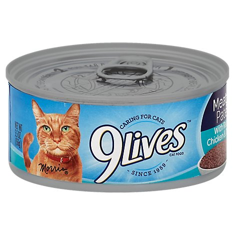 9Lives Cat Food Wet Hearty Cuts with Real Chicken & Tuna In Gravy Can - 5.5 Oz