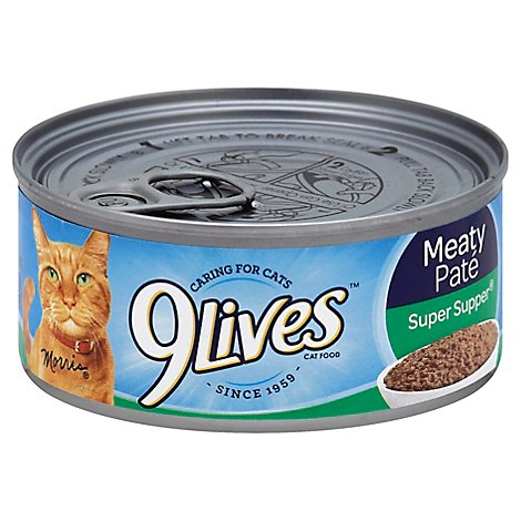 9Lives Cat Food Wet Meaty Pate Super Supper Can - 5.5 Oz
