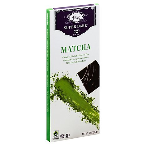 Vosges Super Dark Super Foods + Dark Chocolate Matcha Green Tea 72% Cacao - 3 Oz