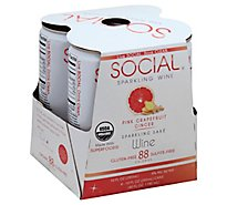 Social Pink Grapefruit Ginger Can Wine - 10 Fl. Oz.