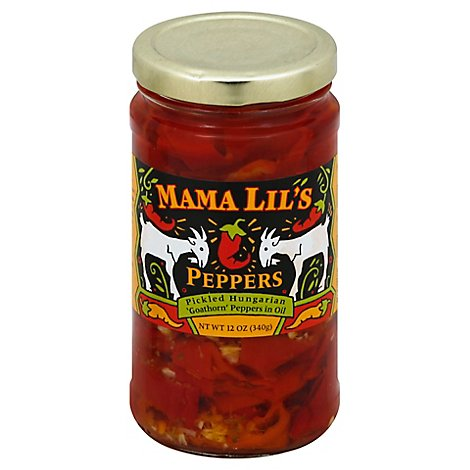 Mama Lils Mild Goathorn Peppers - 12 Oz
