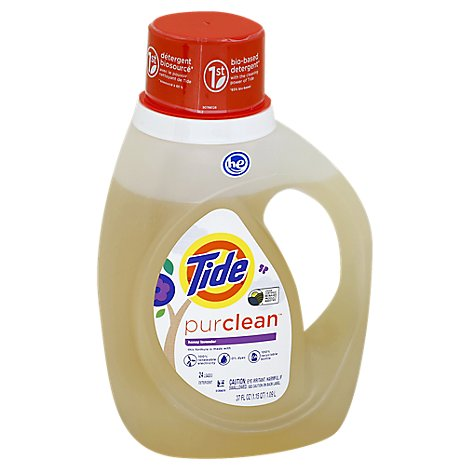 Tide purclean Liquid Detergent Honey Lavender HE Jug - 37 Fl. Oz.