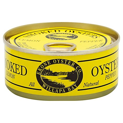 Ekone Oyster Company Oysters Smoked Lemon Pepper - 3 Oz
