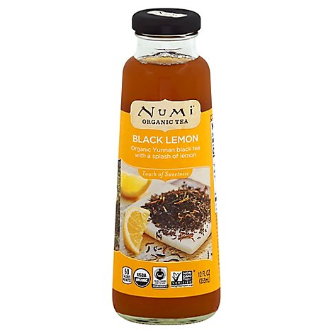 Numi Tea Black Lemon - 12 Oz