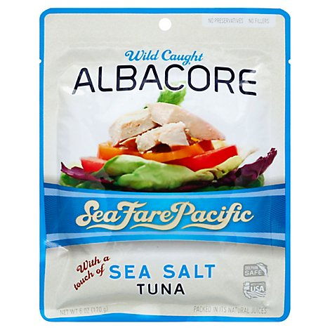 Sea Fare Pacific Tuna Albacore Sea Salt - 6 Oz
