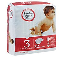 Signature Care Diapers Leakage Protection Size 3 16 To 28 Lb - 32 Count