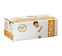 Signature Care Diapers Size 4 22 To 37 Lb - 92 Count