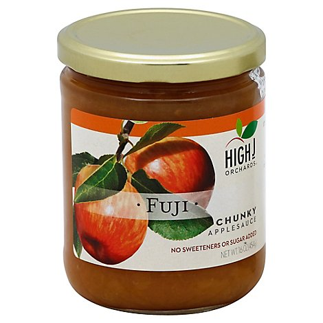 High J Orchards Applesauce Chunky Fuji No Sugar Added - 16 Oz